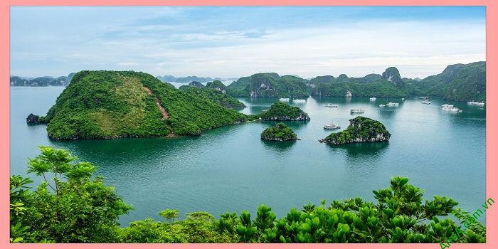 Tranh phong cảnh treo phòng khách khổ lớn Vịnh Hạ Long