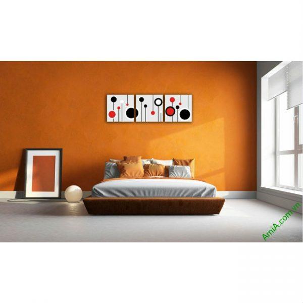 Tranh trang trí Vector nghệ thuật cho phòng khách Amia 415-00