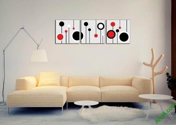 Tranh trang trí Vector nghệ thuật cho phòng khách Amia 415-01