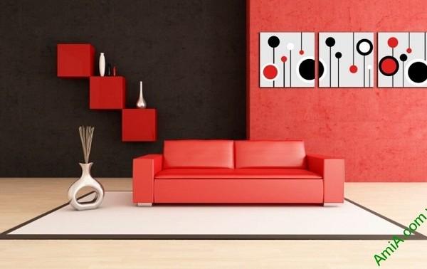 Tranh trang trí Vector nghệ thuật cho phòng khách Amia 415-02