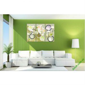 Tranh trang trí hoa lá Vector cho phòng khách Amia 416-00
