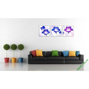 Tranh trang trí phòng khách hoa Vector nghệ thuật Amia 414-00