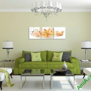 Tranh trang trí Sao Biển cho phòng khách ngày Hè Amia 397-03