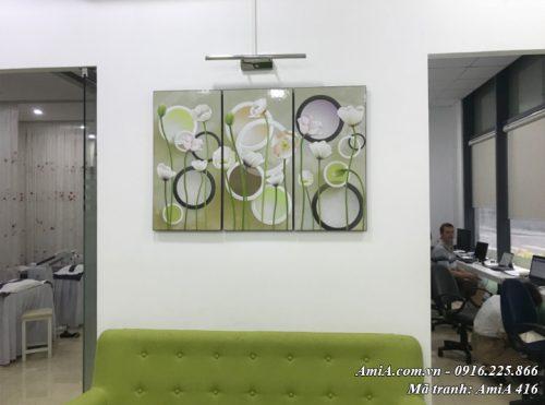 Tranh treo tường AmiA 416 hoa lá vector trang trí đẹp