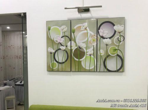 Tranh treo tường hoa lá vector AmiA 416 hình ảnh thực tế