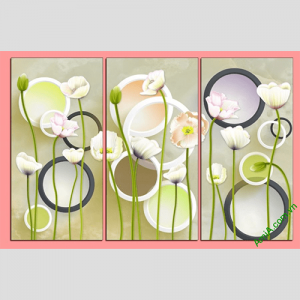 Tranh treo tuong hoa la vector amia 416 treo phong khach phong ngu
