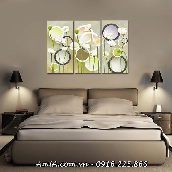 Tranh treo tuong phong ngu nha chung cu hoa la AmiA 416