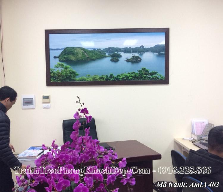 Tranh vịnh hạ long AmiA 403 treo văn phòng làm việc