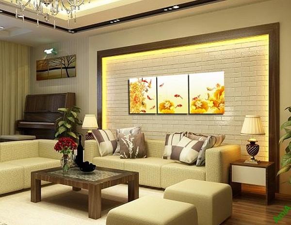 Tranh Cá Chép trang trí phòng khách sang trọng Amia 429-01