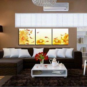 Tranh Cá Chép trang trí phòng khách sang trọng Amia 429-03