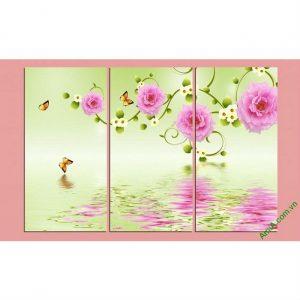 Tranh hoa lá trang trí phòng khách hiện đại Amia 428-00