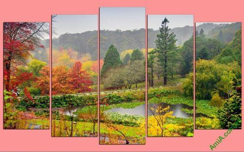 Tranh phong cảnh trang trí phòng khách Mùa Thu Amia 440