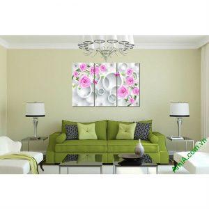 Tranh trang trí nghệ thuật Vector chủ đề hoa lá Amia 435-00
