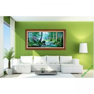 Tranh trang trí phong cảnh in giả sơn dầu Amia 430-00