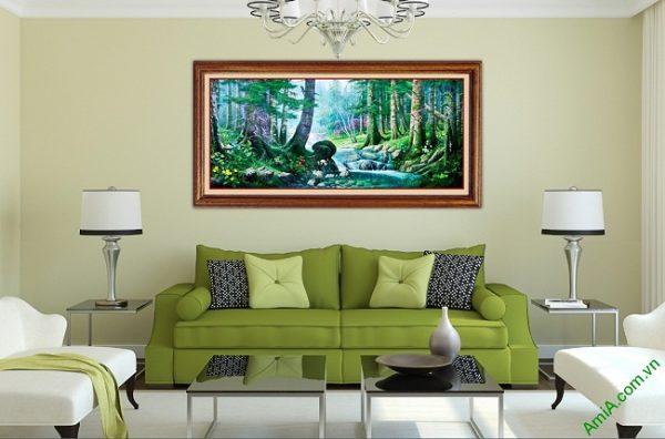 Tranh trang trí phong cảnh in giả sơn dầu Amia 430-01