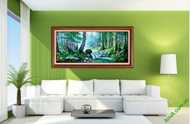 Tranh trang trí phong cảnh in giả sơn dầu Amia 430-02