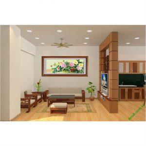 Tranh trang trí phòng khách đẹp hoa Mẫu Đơn Amia 427-00
