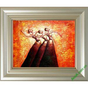 Tranh trang trí trừu tượng Vũ Điệu Bale Amia 446-00