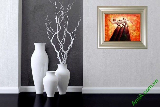 Tranh trang trí trừu tượng Vũ Điệu Bale Amia 446-02