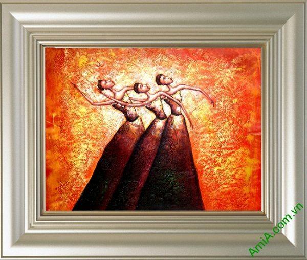 Tranh trang trí trừu tượng Vũ Điệu Bale Amia 446