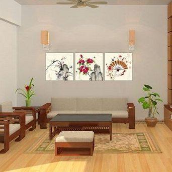 Tranh trang trí truyền thống ghép bộ nhiều tấm Amia 434-00