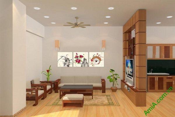 Tranh trang trí truyền thống ghép bộ nhiều tấm Amia 434-01