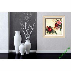 Tranh trang trí truyền thống hoa Mẫu Đơn Amia 436-00