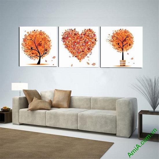 Bộ tranh trang trí phòng khách, phòng ngủ tôi yêu mùa thu-01