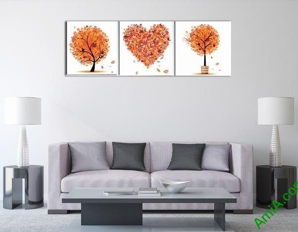 Bộ tranh trang trí phòng khách, phòng ngủ tôi yêu mùa thu-02