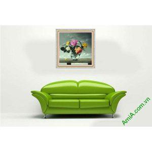 Tranh bình hoa hồng trang trí tĩnh vật nghệ thuật AmiA 591-00