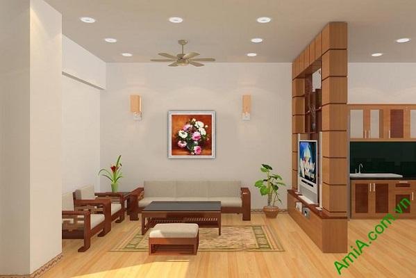 Tranh bình hoa mẫu đơn trang trí phòng khách sang trọng-01