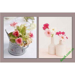 Tranh bình hoa trang trí phòng khách, phòng ăn Amia 550-00