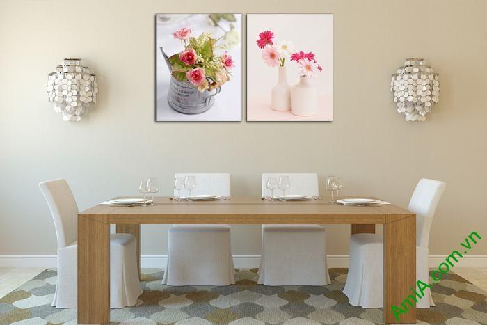 Tranh bình hoa trang trí phòng khách, phòng ăn Amia 550-01