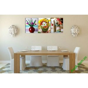 Tranh hoa lá trang trí phòng khách hiện đại AmiA 593-00