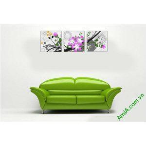 Tranh hoa nghệ thuật trang trí phòng khách hiện đại Amia 516-00