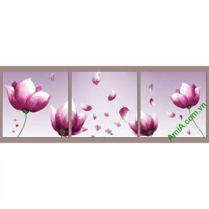 Tranh hoa tím trang trí phòng khách, phòng ngủ Amia 540-00