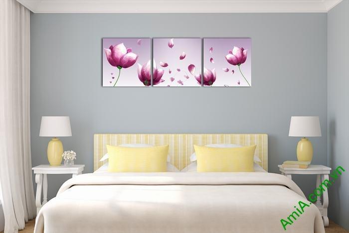 Tranh hoa tím trang trí phòng khách, phòng ngủ Amia 540-01