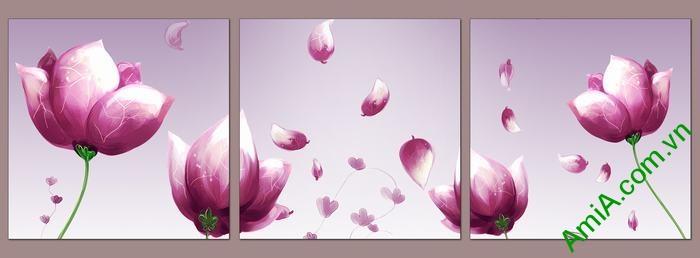 Tranh hoa tím trang trí phòng khách, phòng ngủ Amia 540