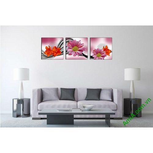 Tranh hoa trang trí nghệ thuật cách điệu Amia 515-00