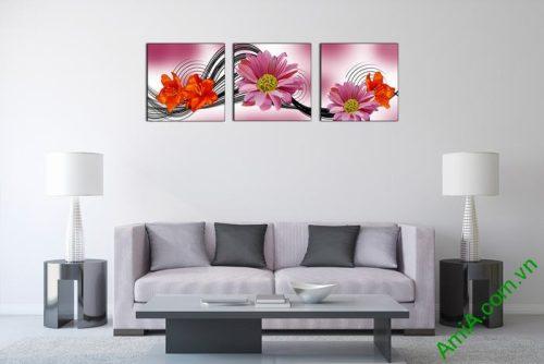 Tranh hoa trang trí nghệ thuật cách điệu Amia 515-02
