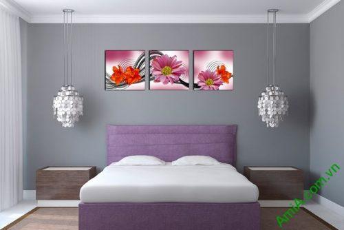 Tranh hoa trang trí nghệ thuật cách điệu Amia 515-03