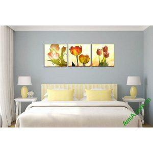 Tranh hoa tulip trang trí nghệ thuật hiện đại Amia 521-00