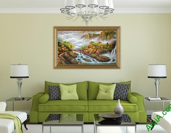 Tranh phong cảnh thiên nhiên hữu tình trang trí phòng khách-01