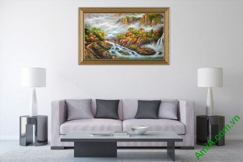 Tranh phong cảnh thiên nhiên hữu tình trang trí phòng khách-02