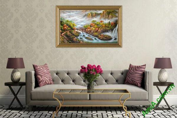 Tranh phong cảnh thiên nhiên hữu tình trang trí phòng khách-03