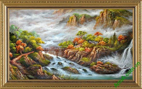 Tranh phong cảnh thiên nhiên hữu tình trang trí phòng khách