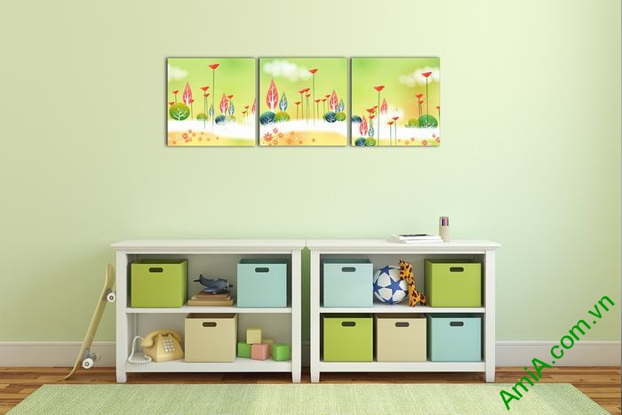 Tranh phong cảnh trang trí phòng khách, phòng trẻ em-01