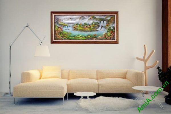 Tranh tiên cảnh trang trí phòng khách hiện đại Amia 542-02