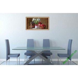 Tranh trang trí bàn ăn hiện đại hoa quả trái cây AmiA 580-00