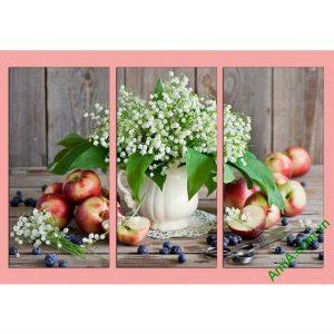 Tranh trang trí bình hoa lan chuông trắng Amia 501-00